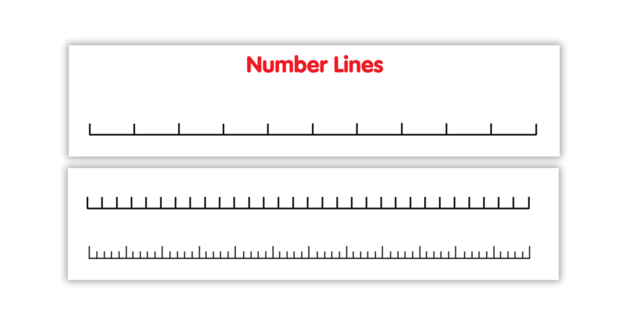 Blank number line png. Double sided
