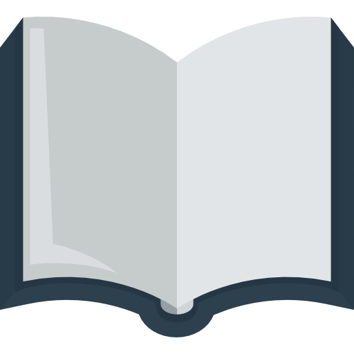 Blank open book png. Transparent image arts