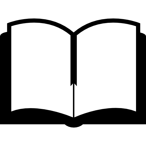 Blank open book png. Education top view tool