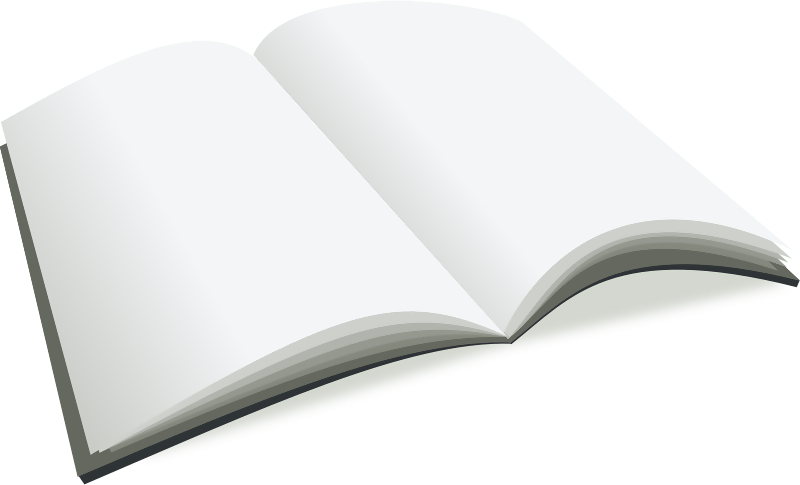 Blank open book png. A to the free