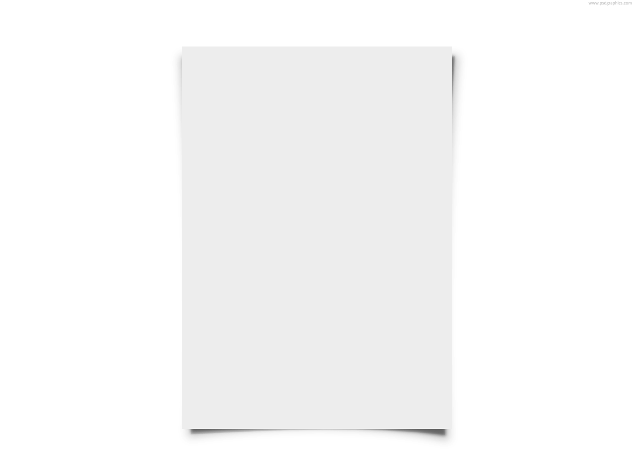 White paper png. Blank psdgraphics transparent