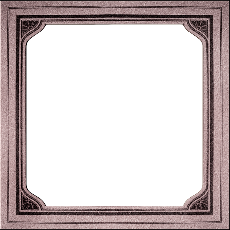 Blank photo frames collage png. Presentation square mat style