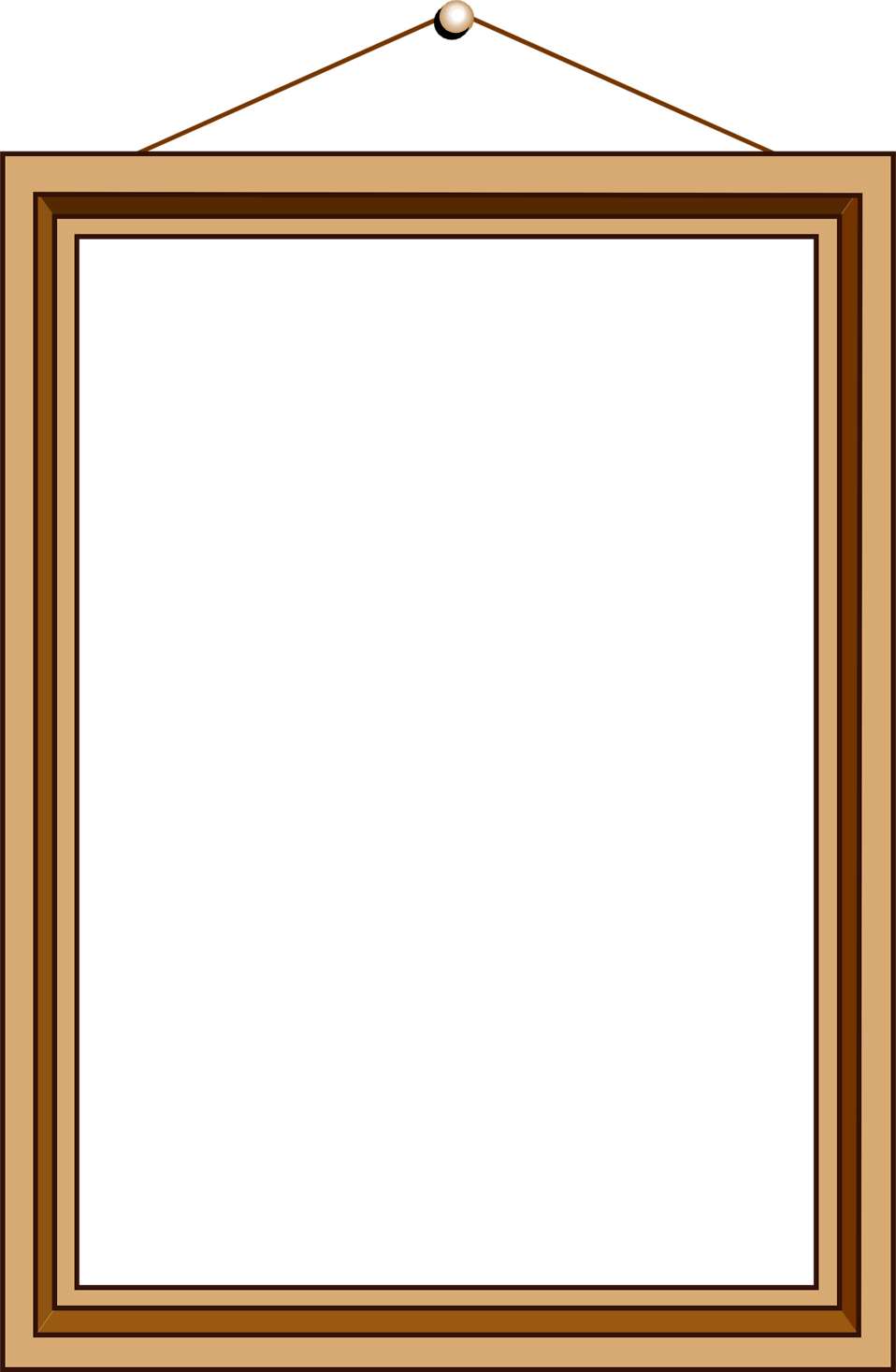 Blank picture frame png. Free stock photo illustration