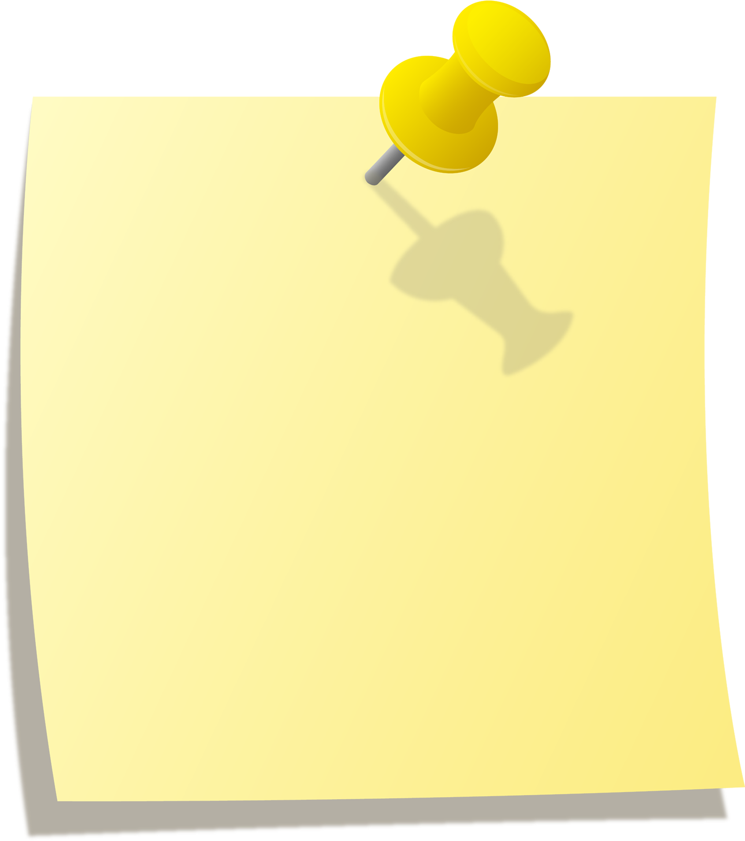 Transparent pin paper. Download hd stick note