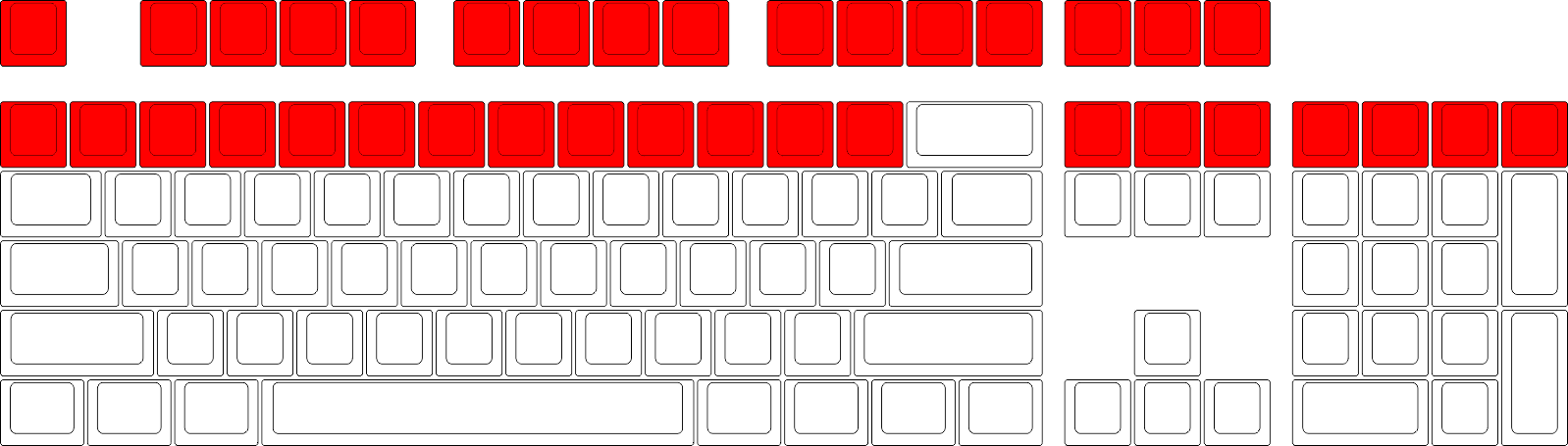 Blank png 1x1. Wasd keyboards row size