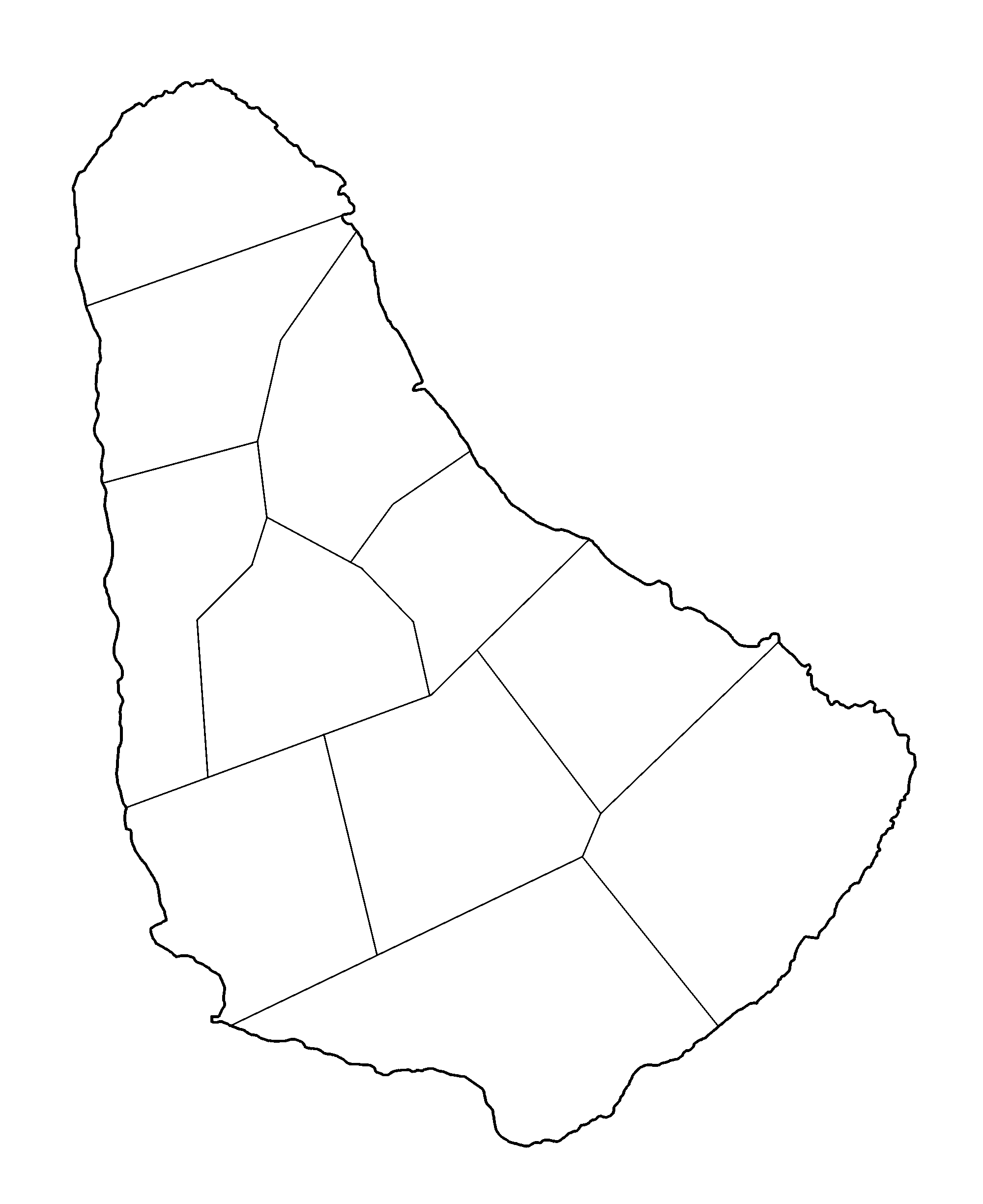 Blank png image. File barbados parishes wikimedia