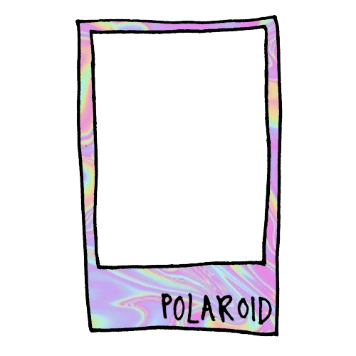 Transparent overlays mad madoverlays. Polaroid clipart tumblr banner black and white