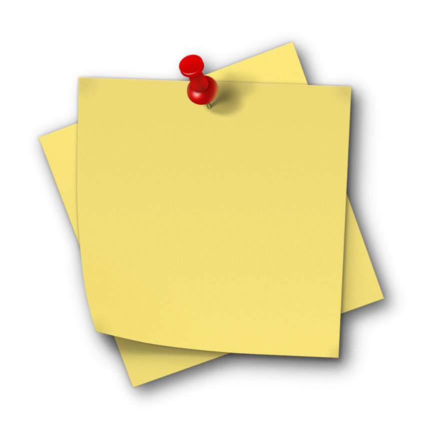 Post notes png. Of a note transparent
