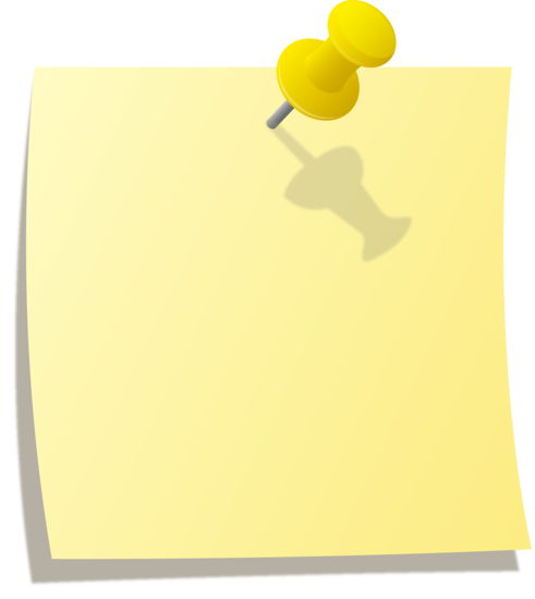 Blank post it note png. Yellow sticky pinned to