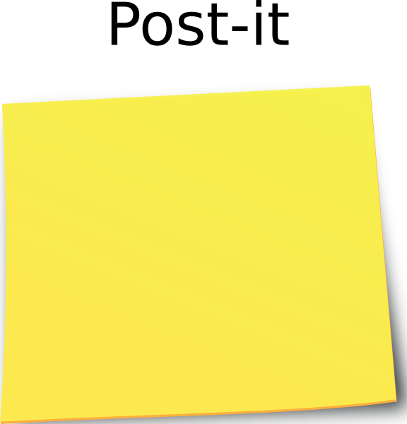 Blank post it png. Paper clip art at