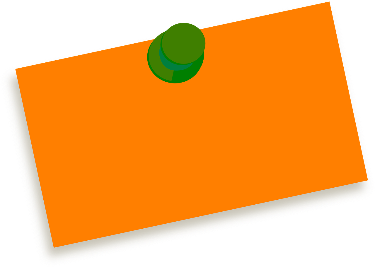 Blank post it png. Note tag pin image