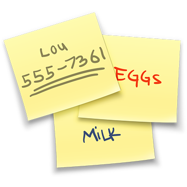 Blank post it png. Keep sticky notes on