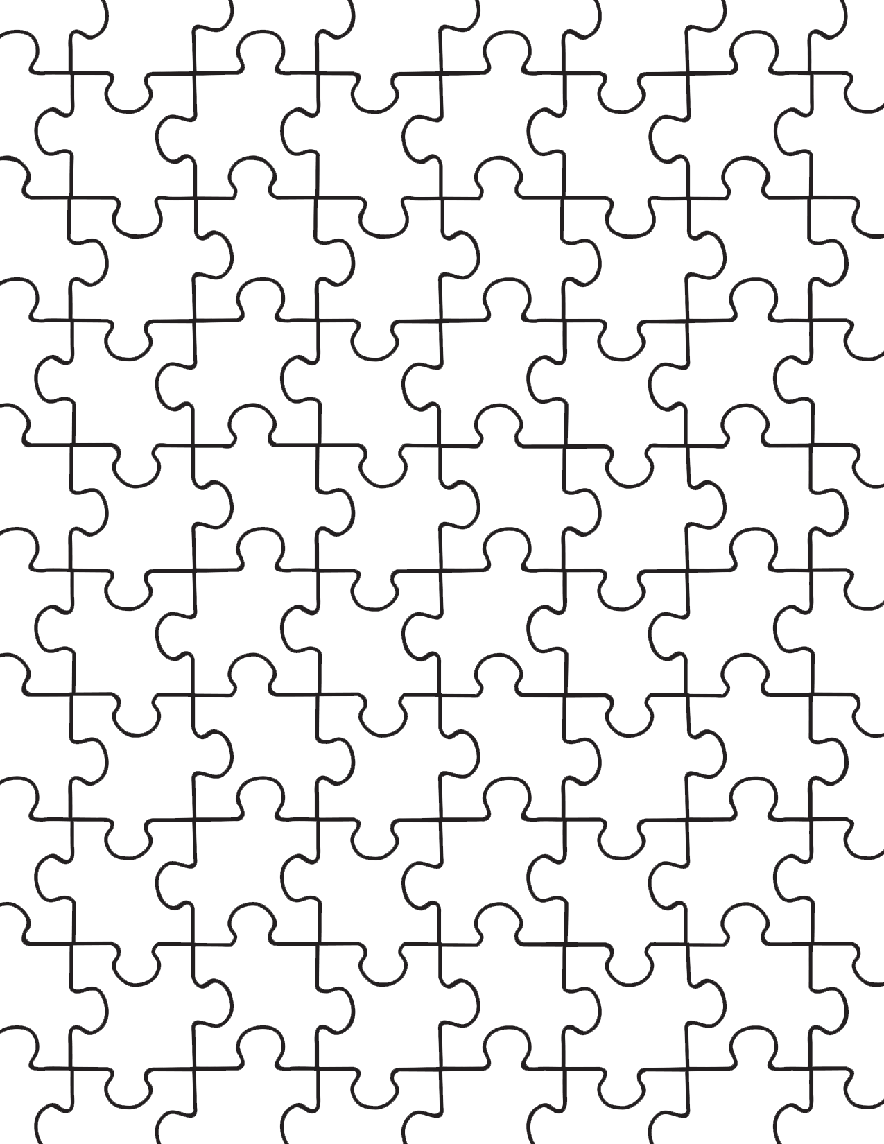 Blank puzzle png. Printable pieces template pinterest