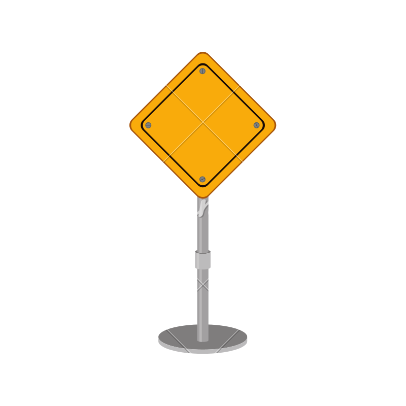 Blank road sign png. Yellow icons by canva