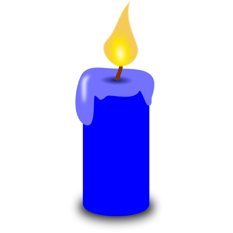 Drawing candles animated. Collection of free dandled