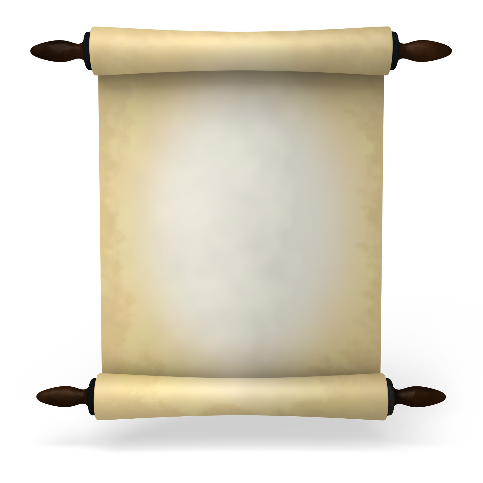 Drawing scrolls message. Ancient scroll paper clipart