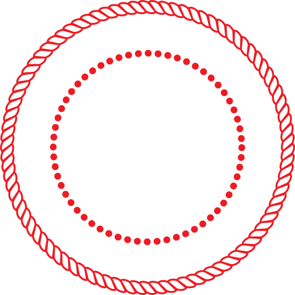 Circle rope border w. Clip design round banner royalty free library