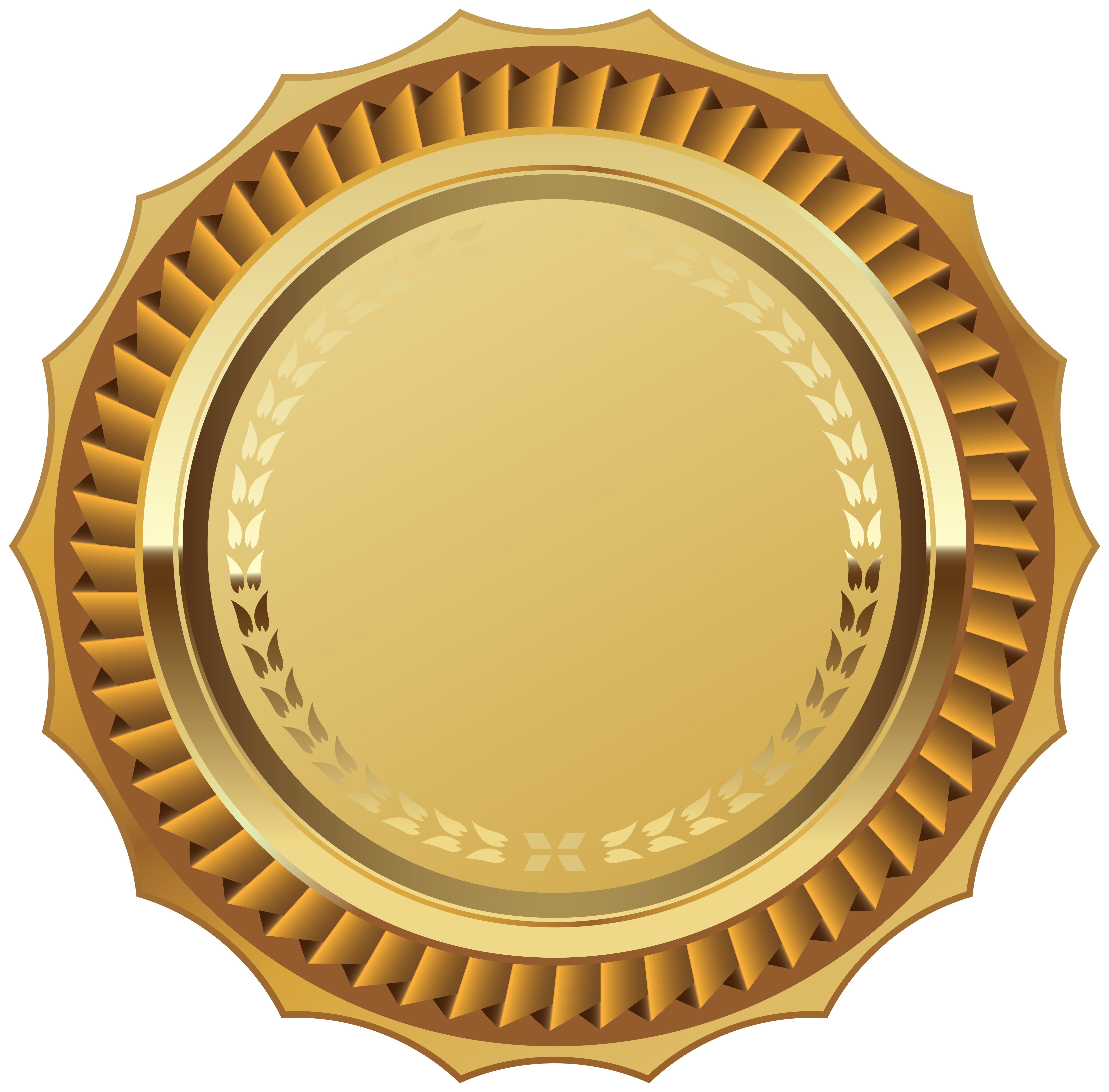 Blank seal png. Gold with ribbon clipart