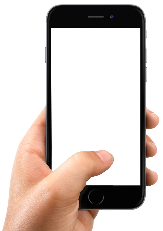 Blank smartphone png. With hand transparentpng download