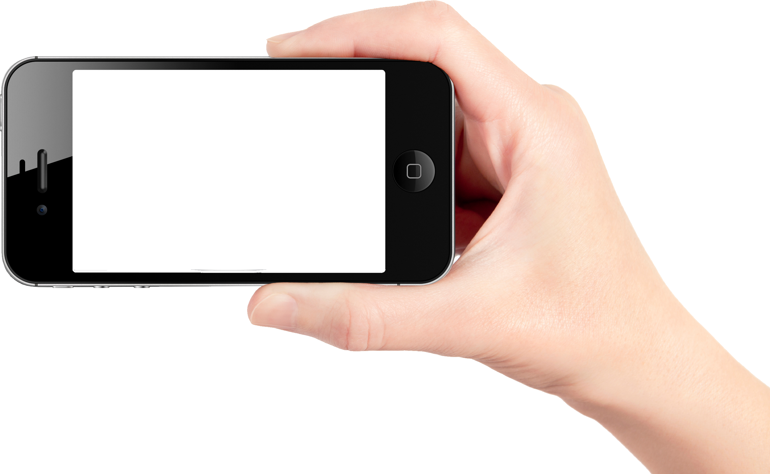 cellphone in hand png