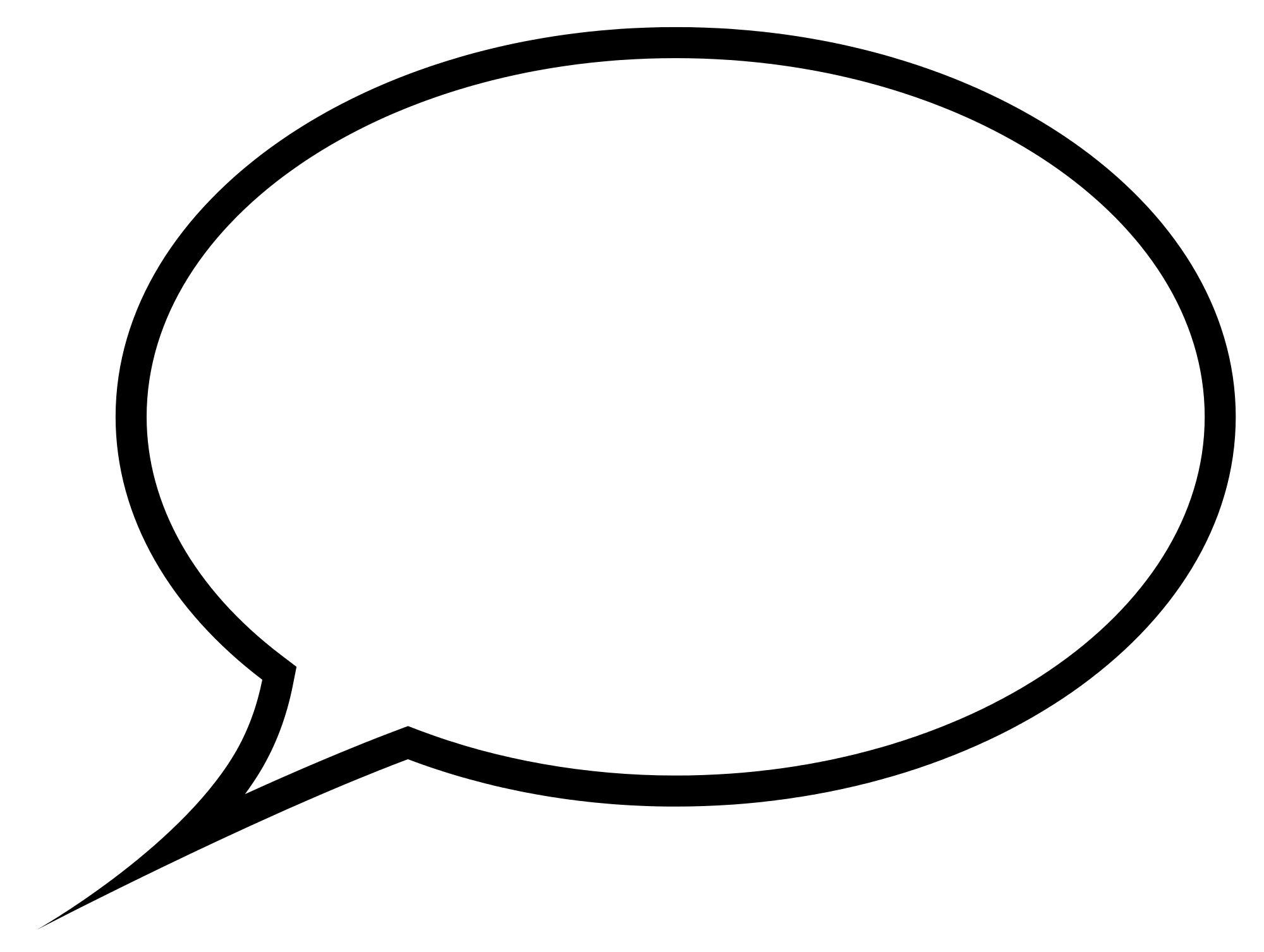 Blank speech bubble png. Transparent stickpng download