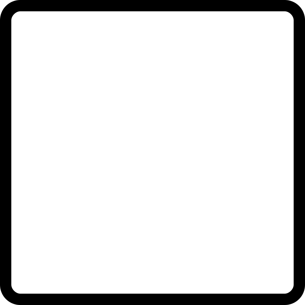 Blank square png. Essential light svg icon