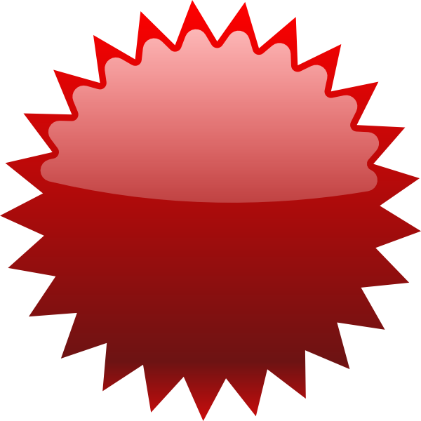 Stickers vector tagging. Red star price