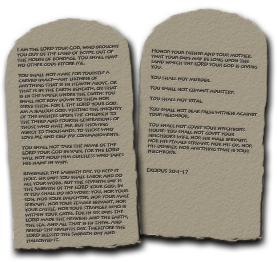 Blank stone tablets png. Ten commandments transparent image