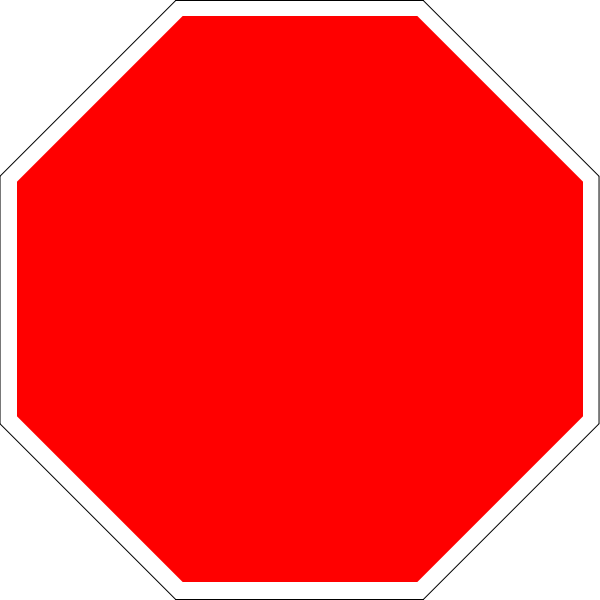 Octagon transparent red. File blank stop sign