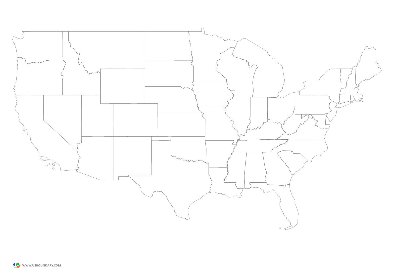 Map of usa png. United states maps download