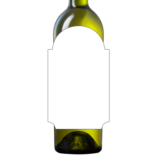 Blank wine bottle labels png. Design your own white