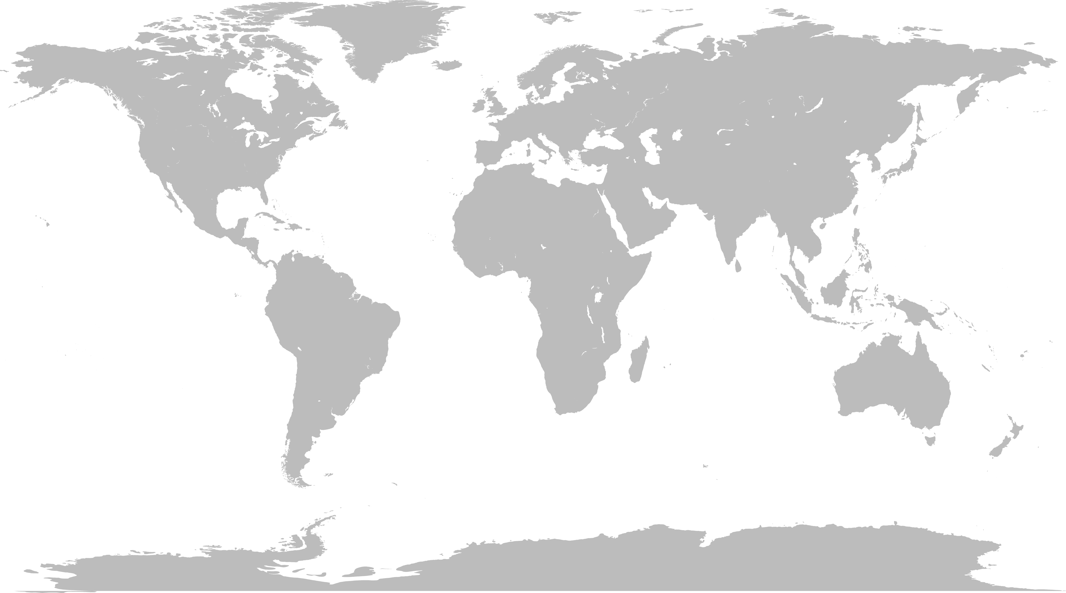 World map png image. File blank without borders