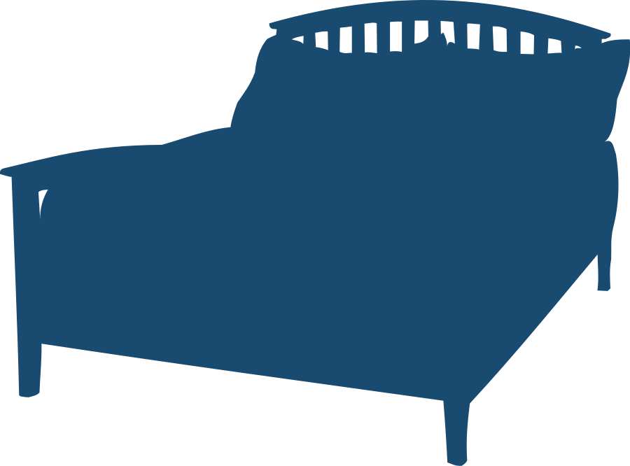 Blanket vector. Bed with blue clipart