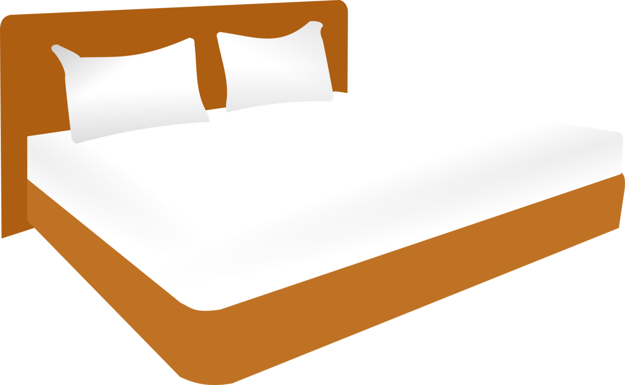 Blanket vector bed clipart. Size bedroom frame free
