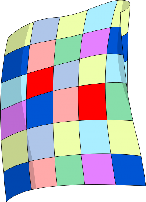 Blanket vector kid. Quilt patchwork cover patch