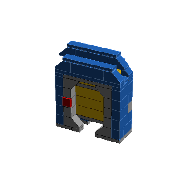 Blast door png. Lego moc moonbase space