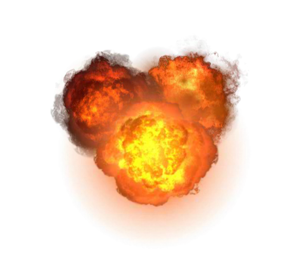 transparent explosions game