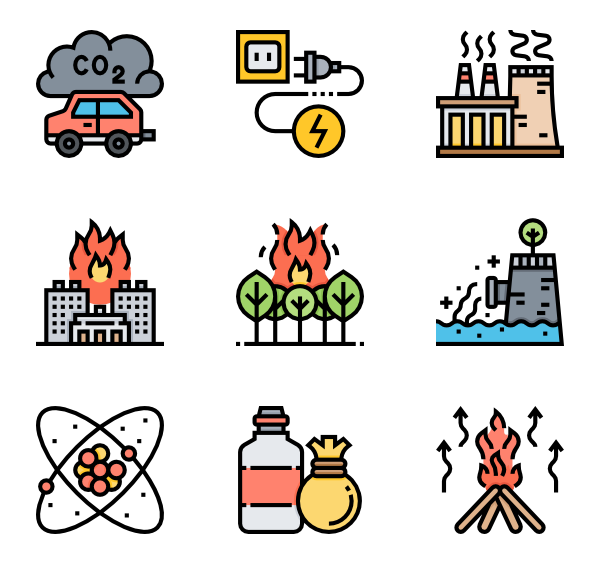 Earthquake vector cartoon. Explosion icons free nuclear