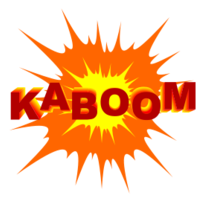 Blast vector clipart. Collection of free exploded