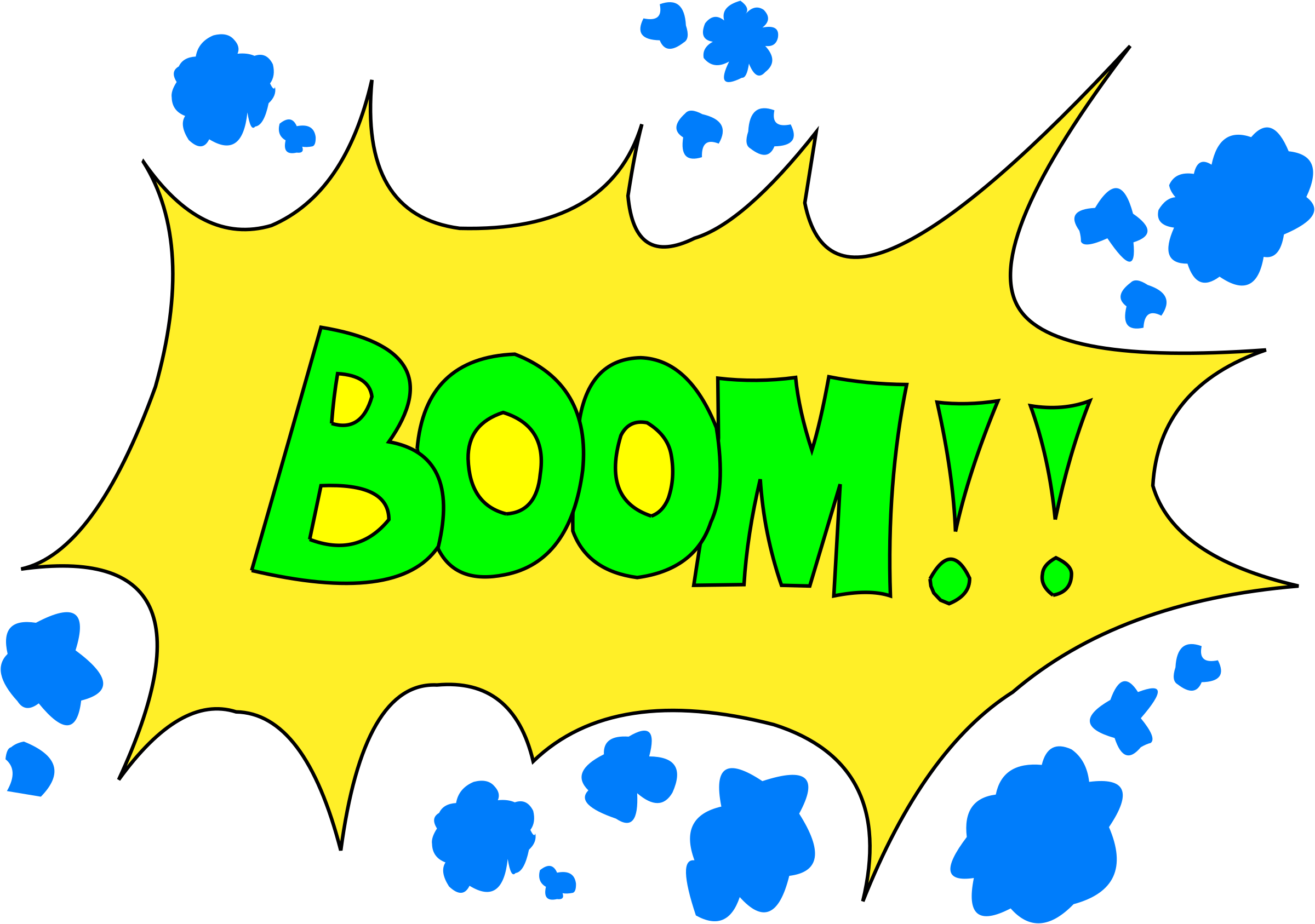 Boom transparent vector. Collection of free boomed