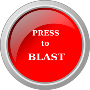 Blast vector red. Brutality button clip art