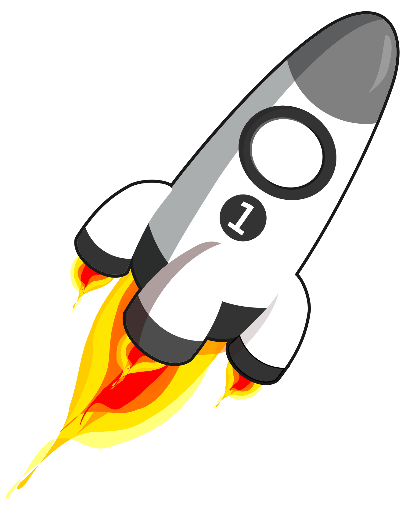 Blast vector rocket. Collection of free exploded