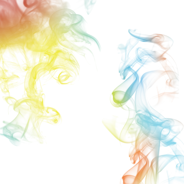 Vector effects smoke. Color illustration rainbow concept