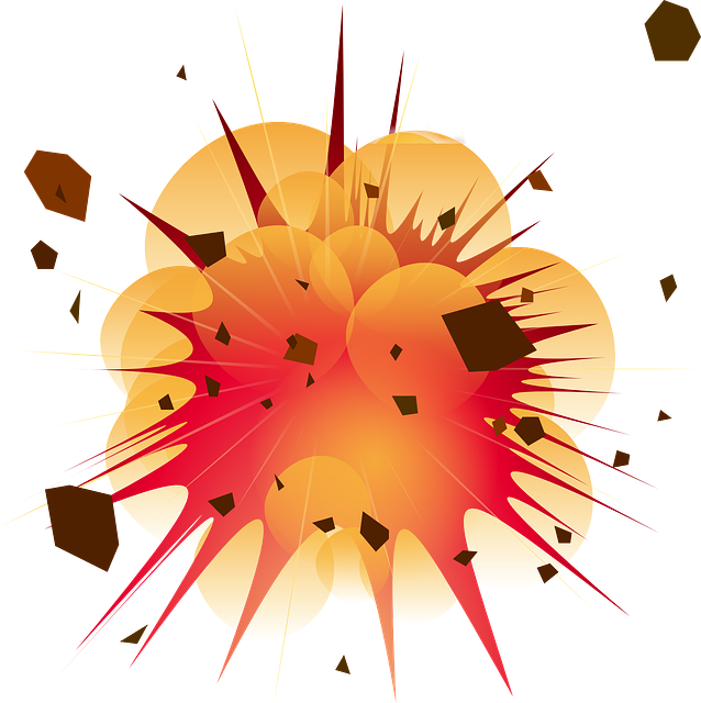 Blast vector spiky. Collection of free exploded