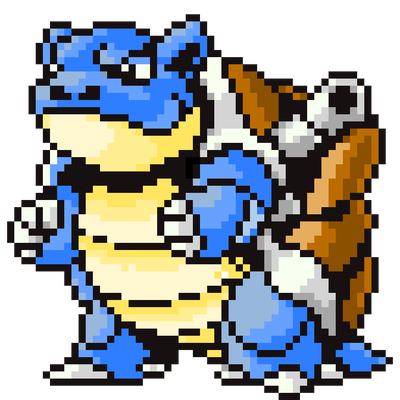 Blastoise gen 4 sprite png. Recolored by skyfyre on