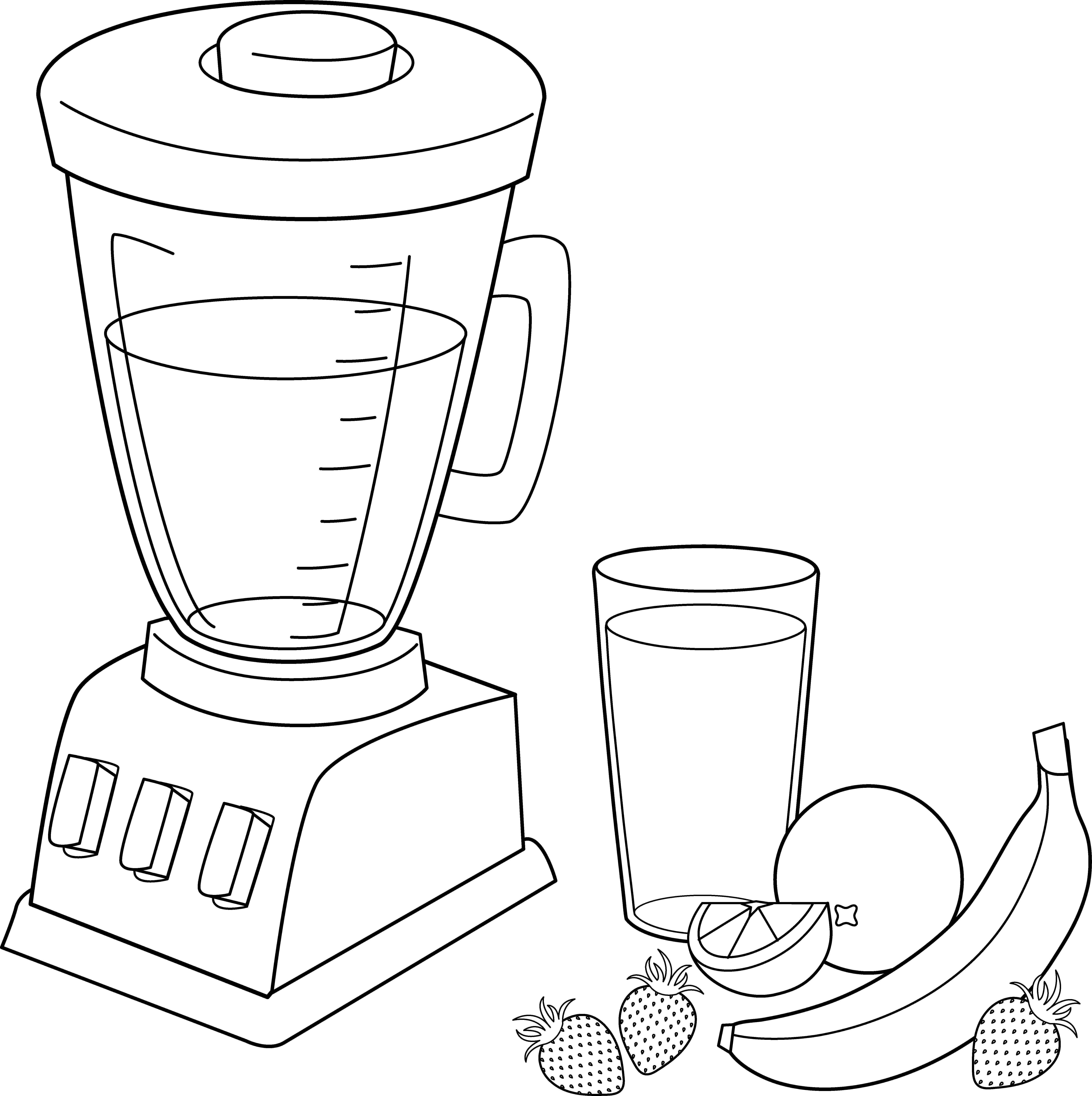 Smoothie vector black and white. Free orange cliparts download