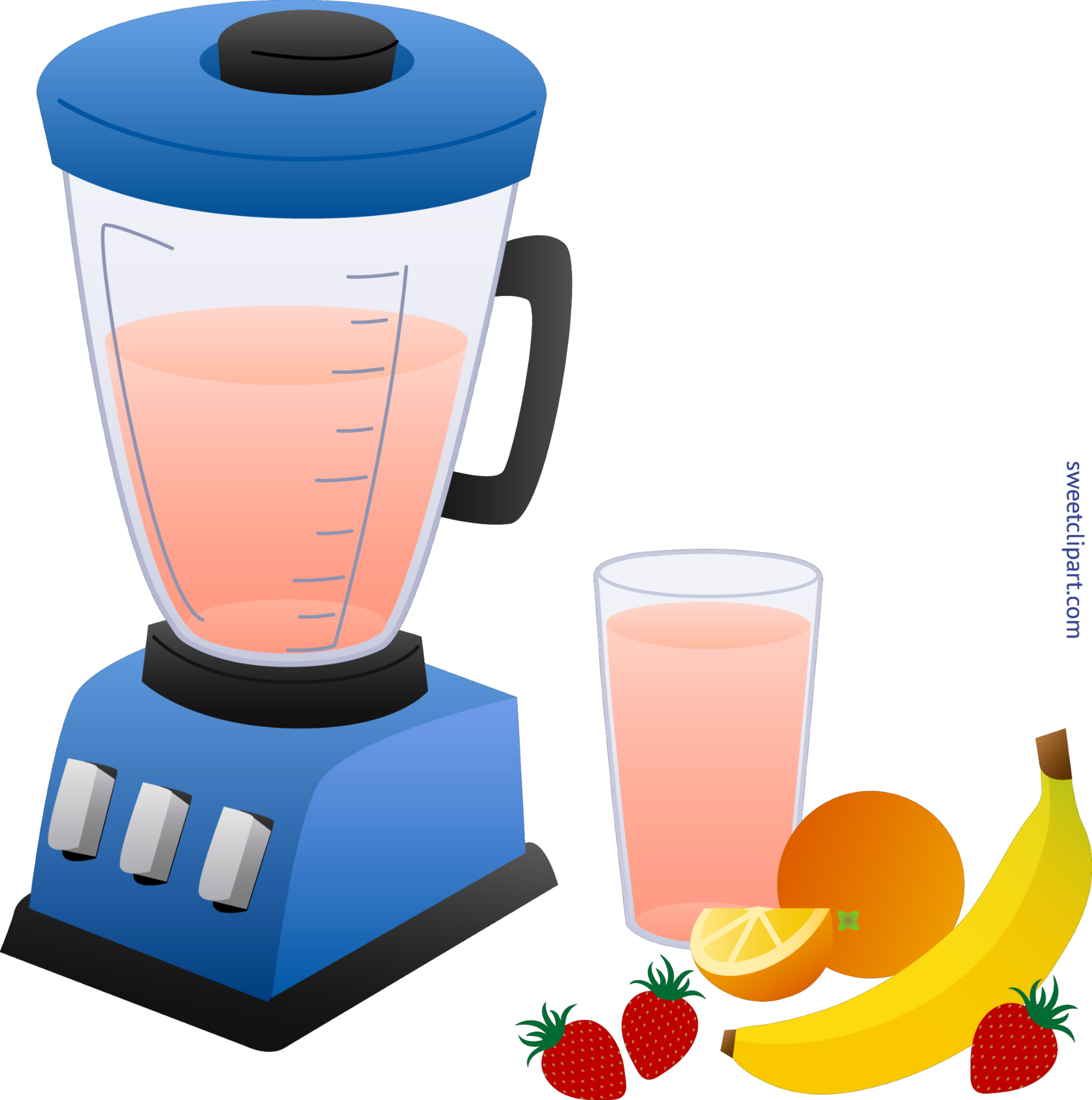Smoothie vector clipart. Blender and fruit clip