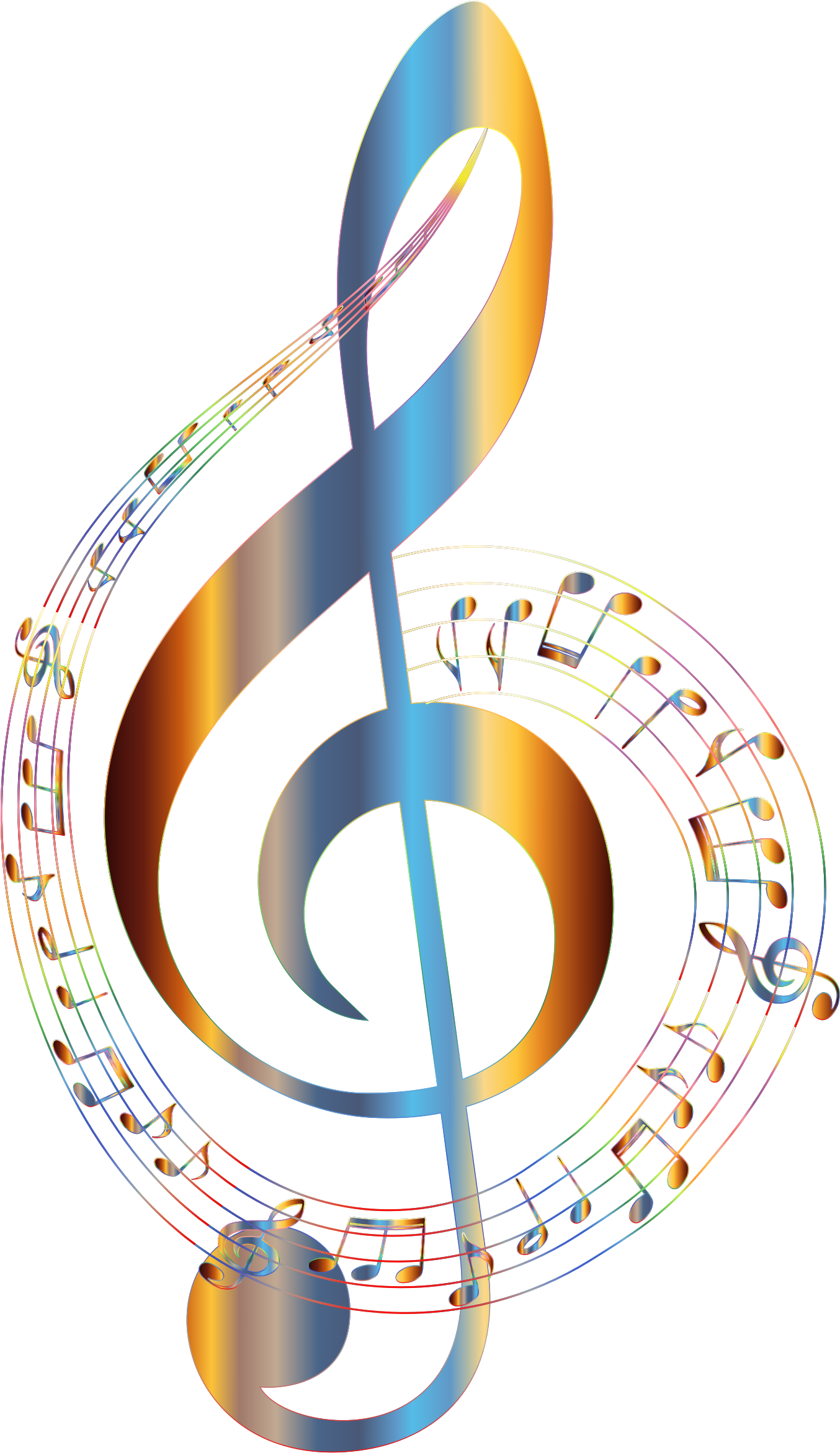 Flourish music notes png. Chromatic musical typography no