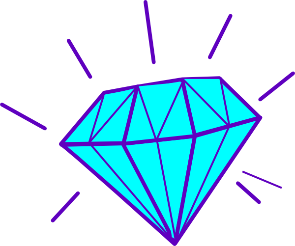 Bling vector. Collection of free diamonded