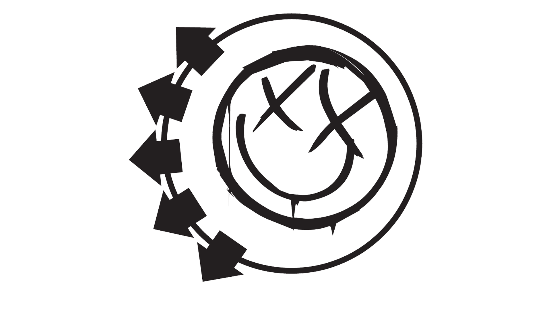 Logo symbol meaning history. Blink 182 smiley png vector royalty free library